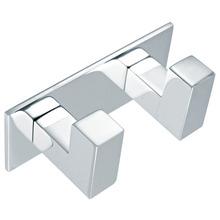 Cabide 2 Ganchos Quadratta Prata