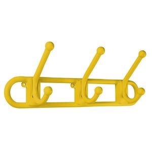 Cabide 3 Ganchos Amarelo Primafer