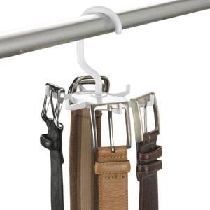 Cabide para Cintos Giratório Plástico Branco Secalux