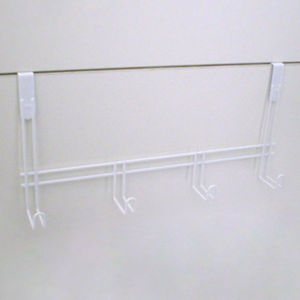 Cabide para porta 4 ganchos branco 33,5x16x8,2cm