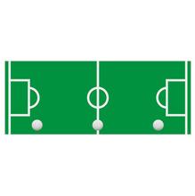 Cabideiro 3 Ganchos Futebol Madeira 50x20x4cm