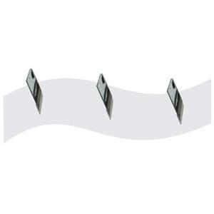 Cabideiro 3 Ganchos Onda Branco 40x13x4cm