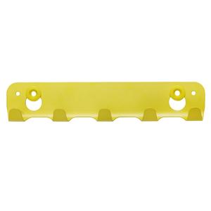 Cabideiro 5 Ganchos Aço Amarelo Spaceo