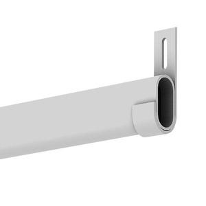 Cabideiro Closet Aço (Conj) Branco 55x8x2cm