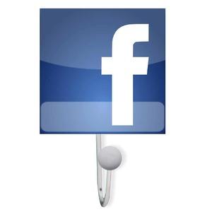 Cabideiro Facebook 10x15x4 cm