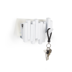Cabideiro Stick com Porta Cartas Branco