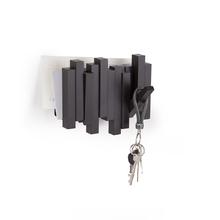 Cabideiro Stick com Porta Cartas Marrom