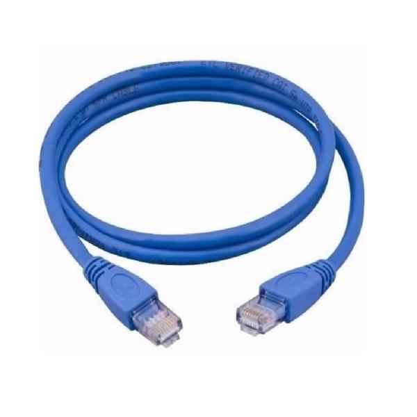Cabo De Rede Ethernet Lan Rj45 Cat 6 Utp Azul 3 Metros Leroy Merlin