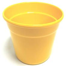 Cachepot Alumínio Crisântemo 13x15,7cm Amarelo Sítios Aces