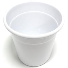 Cachepot Alumínio Crisântemo 13x15,7cm Branco Sítios Aces