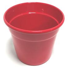 Cachepot Alumínio Crisântemo 13x15,7cm Vermelho Sítios Aces