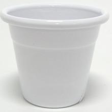 Cachepot Alumínio Mini Tradicional 6,5x6,5cm Branco Sítios Aces