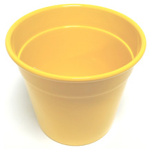 Cachepot Alumínio Tradicional Pequeno 09x09cm Amarelo Sítios Aces