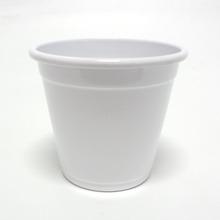 Cachepot Alumínio Violeta Médio sem Alça 13x12cm Branco Sítios Aces