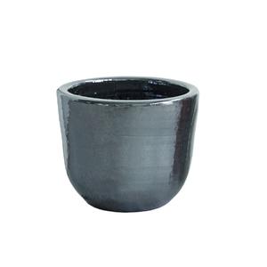 Cachepot Cerâmica Americano Cromo Médio