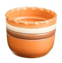 Cachepot Cerâmica Ipanema 13x17cm Natural Associação Adelino
