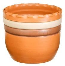 Cachepot Cerâmica Ipanema 16x19cm Natural Associação Adelino