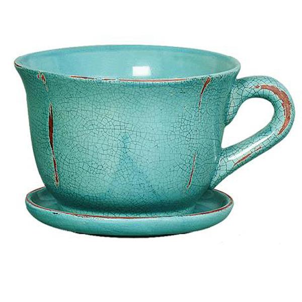 Cachepot cer mica x cara turquesa grande leroy merlin - Leroy merlin ceramica ...
