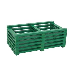 Cachepot Duplo Madeira Verde Médio