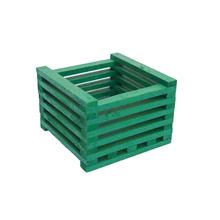 Cachepot Madeira Verde Pequeno