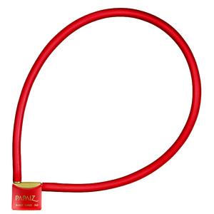 Cadeado com Cabo 30mm Vermelho Bike Line Papaiz