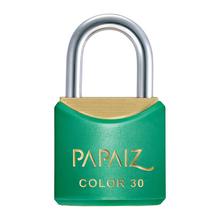 Cadeado com Chave Latão Simples 30mm Color Verde Papaiz