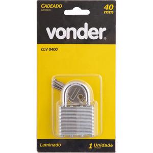 Cadeado com chave simples 40mm Vonder