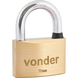 Cadeado com chave tetra 70mm Vonder