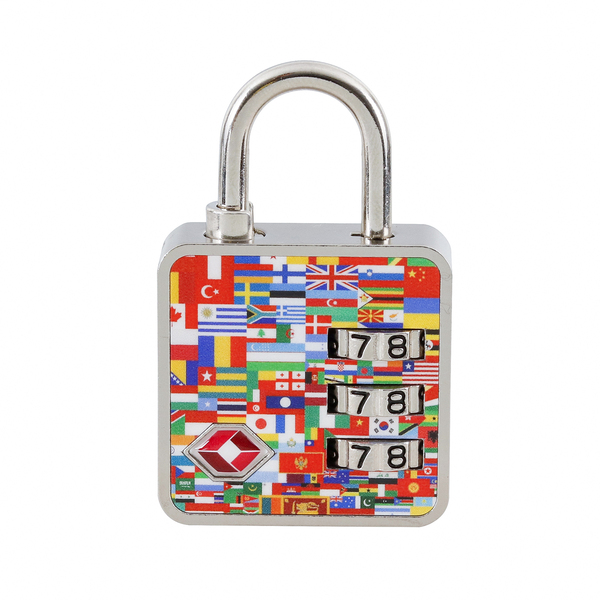 Cadeado com Segredo 35mm Nações TSA 3 Dígitos Papaiz  1702d98760746