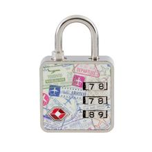 Cadeado com Segredo 35mm Passaporte TSA 3 Dígitos Papaiz