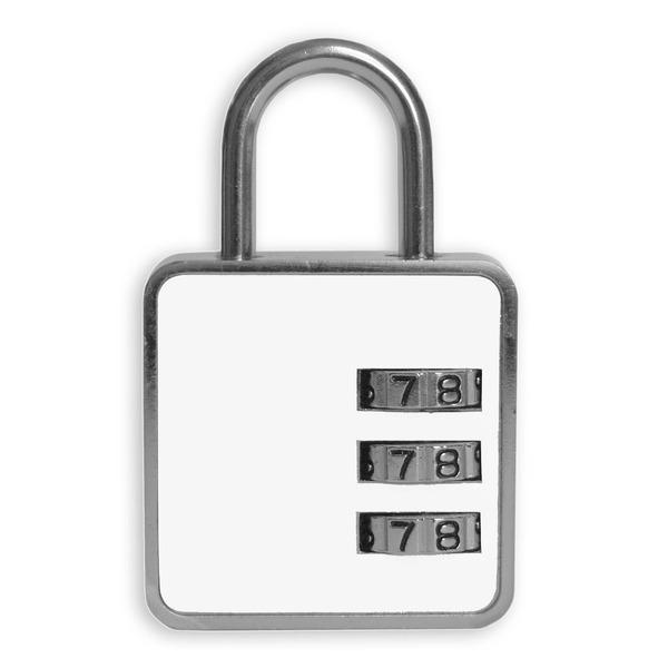 Cadeado com Segredo 35mm Latão Branco Clássico Papaiz  6f85f8105dd35