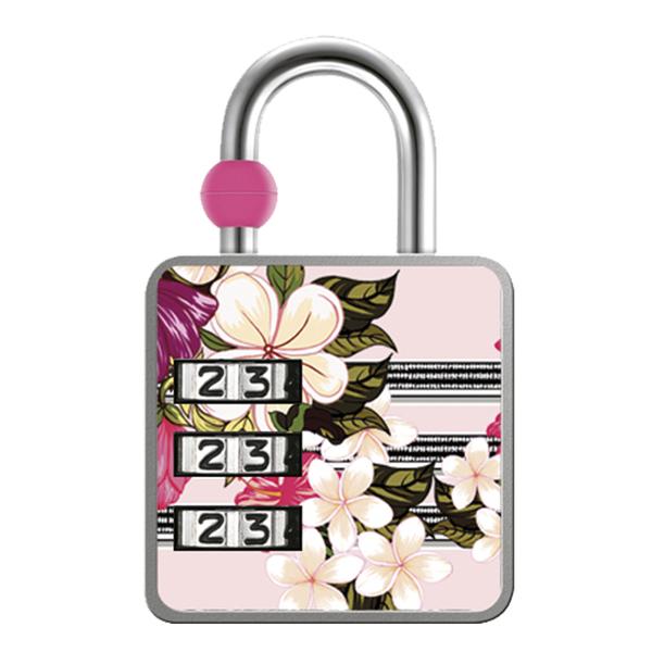 Cadeado com Segredo Zamac Simples 35mm Floral Papaiz d208e313fd4a9