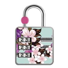 Cadeado com Segredo Zamac Simples 35mm Floral Papaiz