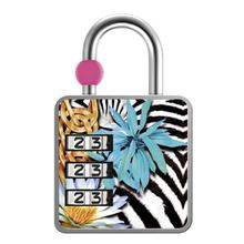 Cadeado com Segredo Zamac Simples 35mm Zebra e Floral Papaiz