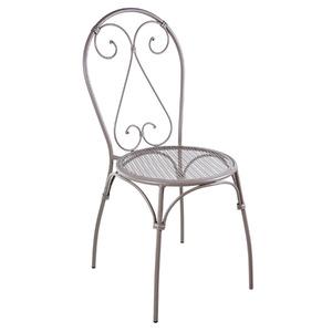 Cadeira Aço Coração Marrom 91x43cm Importado