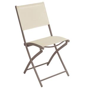 Cadeira Aço Dobrável Bege 85x56cm Importado