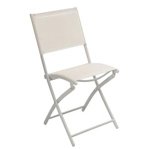 Cadeira Aço Dobrável Branco 85x56cm Importado