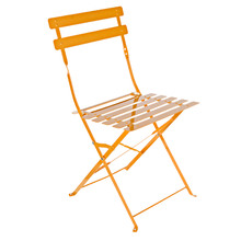 Cadeira Aço Dobrável Laranja 80x45cm