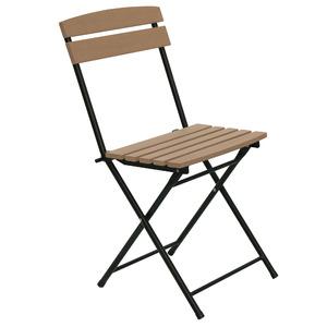 Cadeira Aço Dobrável Marrom 84x51cm Importado