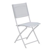 Cadeira Aço Dobrável Palma Branco 97x44cm Importado