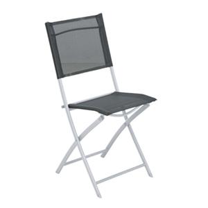 Cadeira Aço Dobrável Palma Cinza 97x44cm Importado