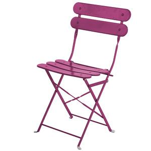 Cadeira Aço Dobrável Ripada Pink 82x45cm Importado