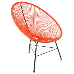 Cadeira Aço e Pvc Retro Oval Laranja 89x84cm Importado