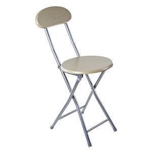 Cadeira Aço/Madeira Dobrável Desmontável Bege sem Braço 76x31cm Importado