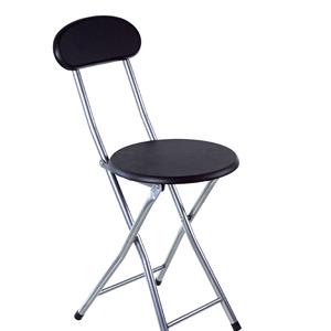 Cadeira Aço/Madeira Dobrável Desmontável Preto sem Braço 31x76cm Importado