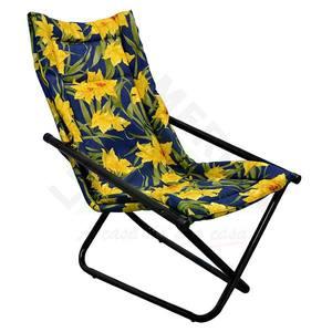 Cadeira Aço Monaco Articulável Azul Metalmix