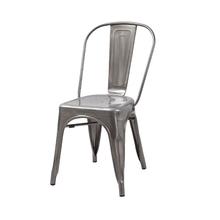 Cadeira Aço Soho Prata 84x54cm