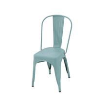 Cadeira Aço Soho Azul Seco 84x54cm