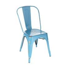 Cadeira Aço Soho Vintage Azul 84x54cm