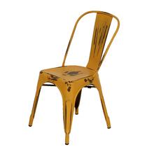 Cadeira Aço Soho Vintage Laranja 84x54cm